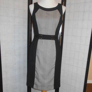 WH/BM  Black & White Color Block Dress Size 6
